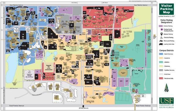 Usf Campus Map