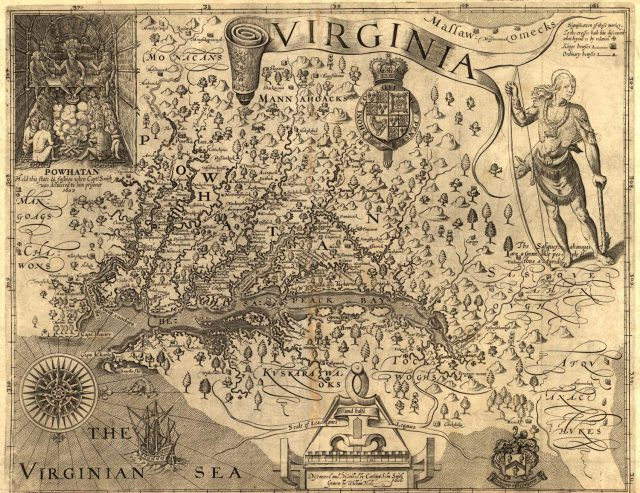 Virginia Colony Map