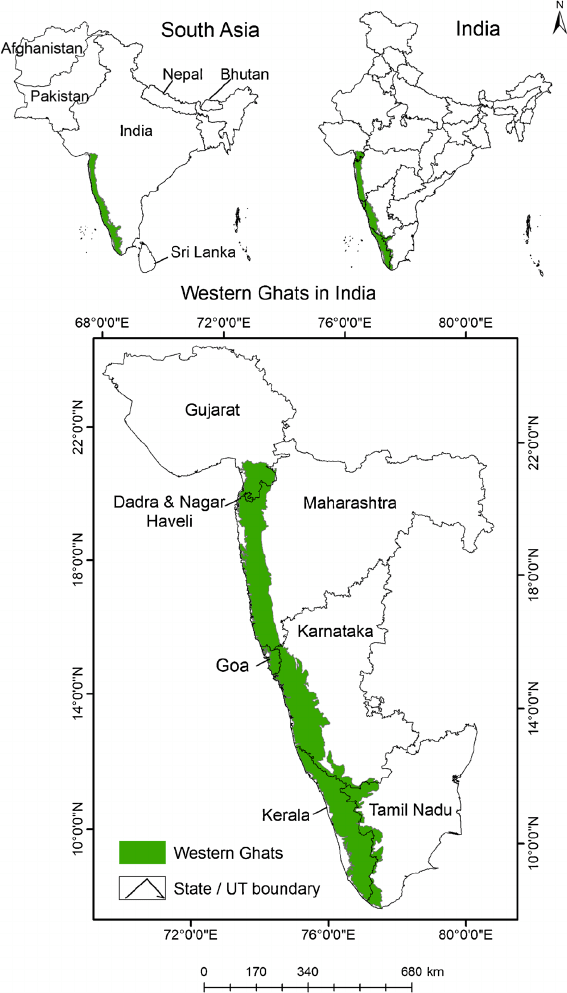 Western ghats map from researchgate 1