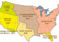 Westward expansion map from westward expansion movement 1