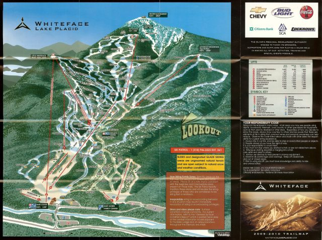 Whiteface Mountain Trail Map