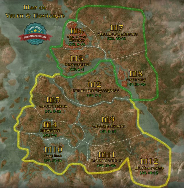 Witcher 3 map from guides 1