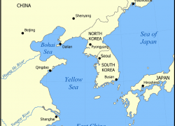 Yellow sea map from commons 9