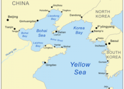 Yellow Sea Map: Yellow sea map from en 1