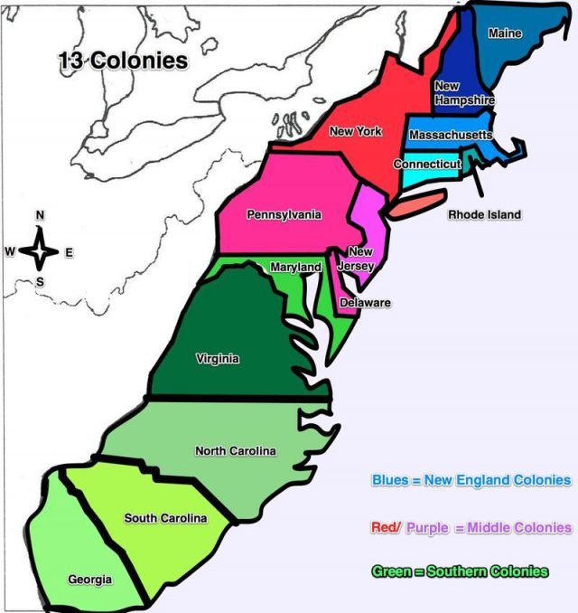 13 colonies map with names from br 1