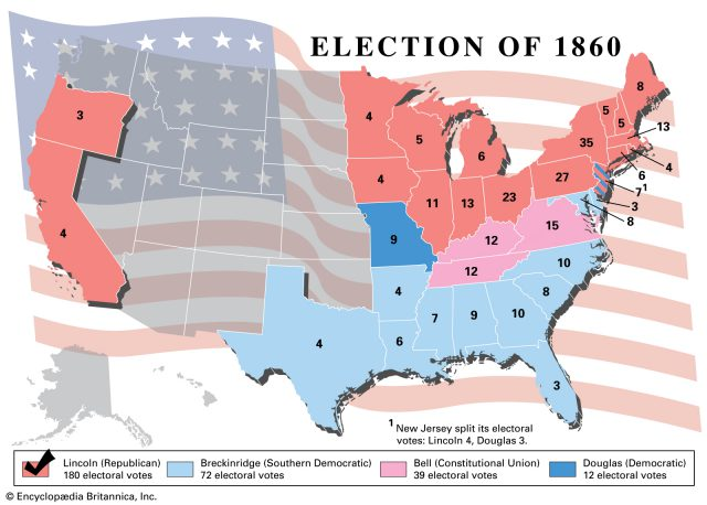 Abraham Lincoln Election Map