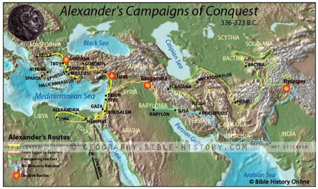 Alexander The Great Conquest Map