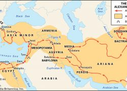 Alexander The Great Conquest Map: Alexander the great conquest map from britannica 2