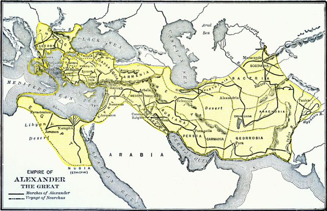 Alexander The Great Empire Map