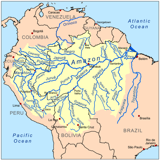 Amazon Basin Map