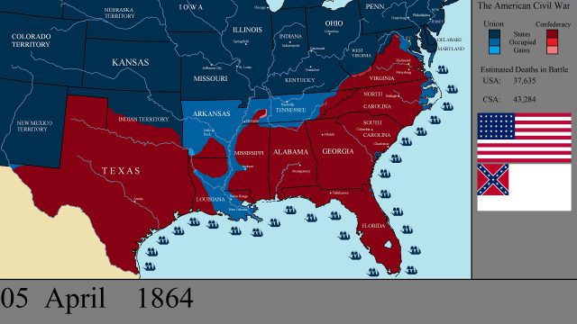 American civil war map from youtube 1