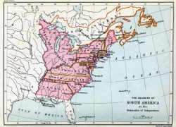 American Colonies Map: American colonies map from history 1