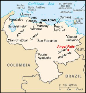 Angel Falls Map