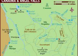 Angel falls map from lonelyplanet 2