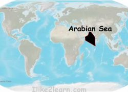 Arabian sea on world map from quia 9