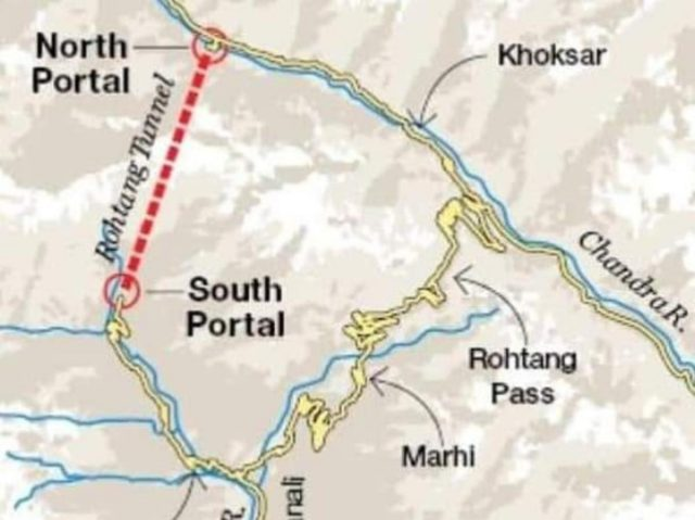 Atal tunnel map from utkaltoday 1