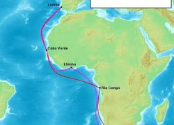 Bartolomeu Dias Voyage Map: Bartolomeu dias voyage map from famous explorers 1