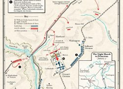 Battle Of Princeton Map: Battle of princeton map from mountvernon 2