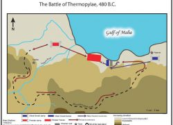 Battle of thermopylae map from pinterest 2