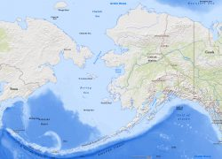 Bering sea map from geographicguide 8