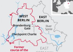 Berlin wall map from independent 5