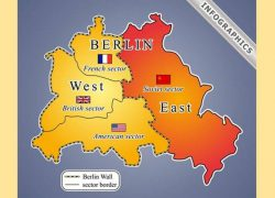 Berlin Wall Map: Berlin wall map from newideal 1