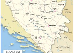 Bosnia And Herzegovina Map: Bosnia and herzegovina map from nationsonline 1