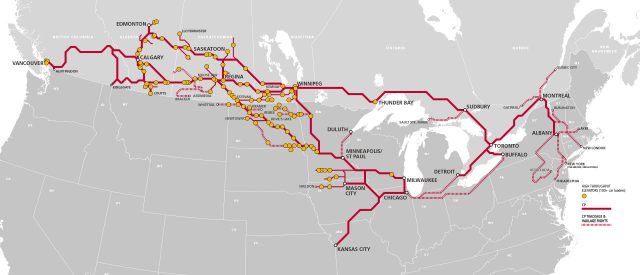 Canadian Pacific Railway Map