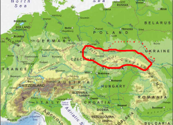 Carpathian Mountains Map: Carpathian mountains map from pinterest 1