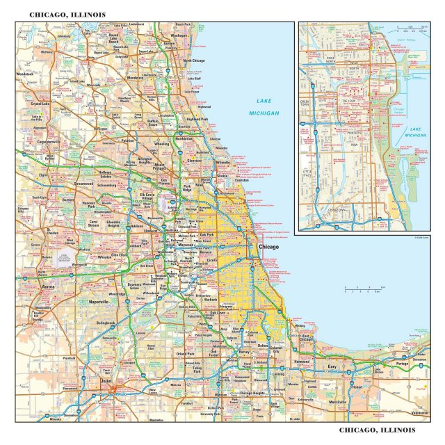 Chicago map from mapshop 3