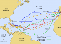 Christopher Columbus Map Of Exploration: Christopher columbus map of exploration from en 1