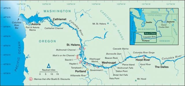 Colombia River Map