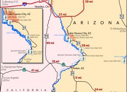 Colorado river on a map from azstateparks 10