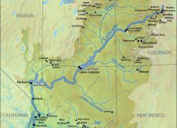 Colorado river on a map from en 5