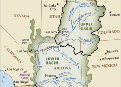 Colorado river on a map from usgs 8