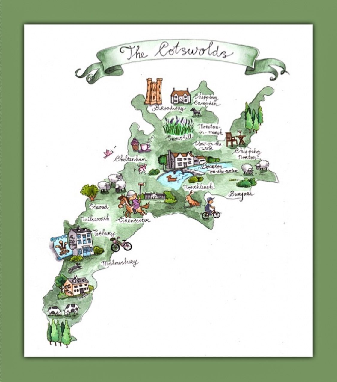 Cotswolds Map From Pinterest 4