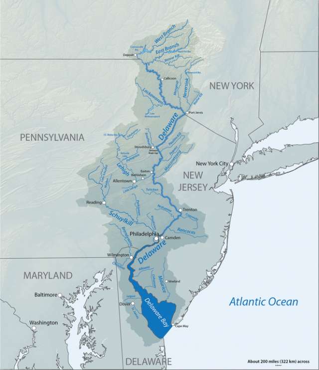 Delaware river map from americanrivers 1