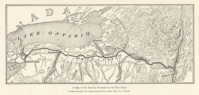 Erie Canal Map