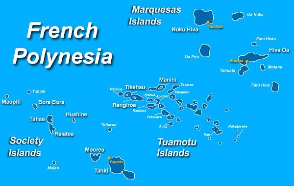 French Polynesia Map From Pinterest 1
