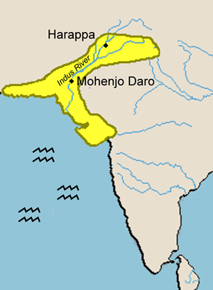 Harappa and mohenjo daro map from pinterest 1