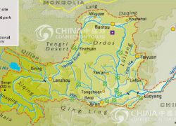 Huang he river map from china tour 9