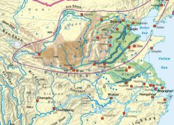 Huang he river map from diercke 4