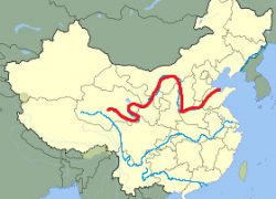 Huang He River Map: Huang he river map from flickr 1