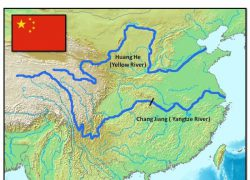 Huang he river map from pinterest 8