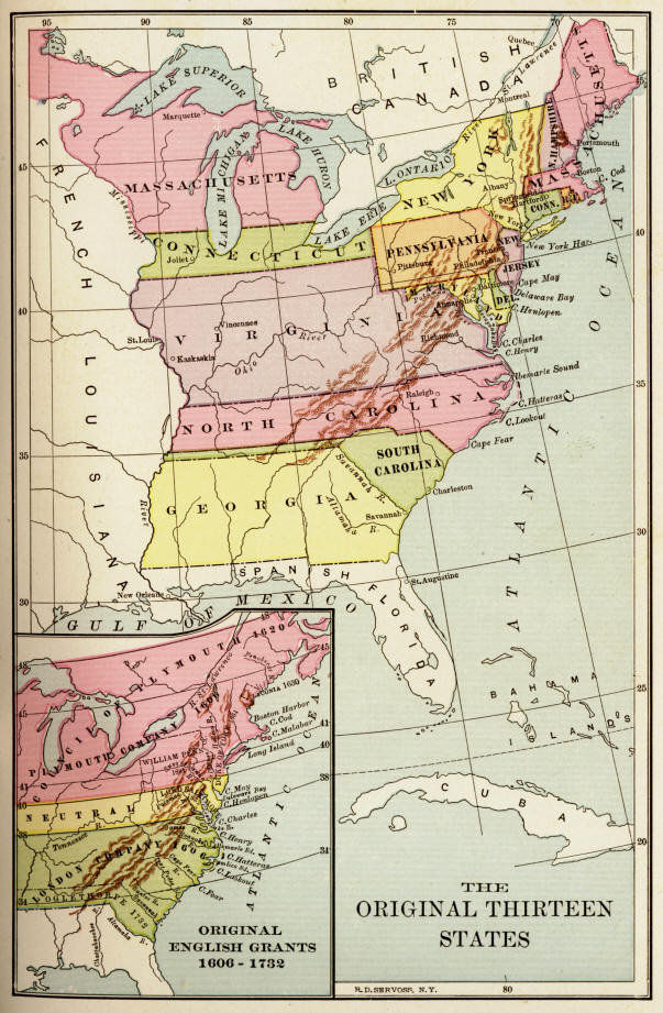 Hudson River Map 13 Colonies