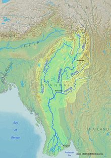 Irrawaddy river map from en 1