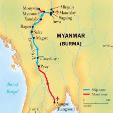 Irrawaddy River Map
