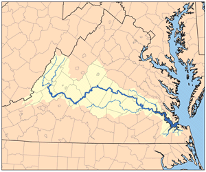 James River On Map