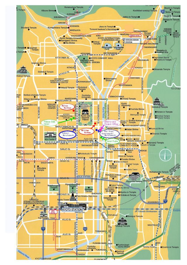 Kyoto map from pinterest 1