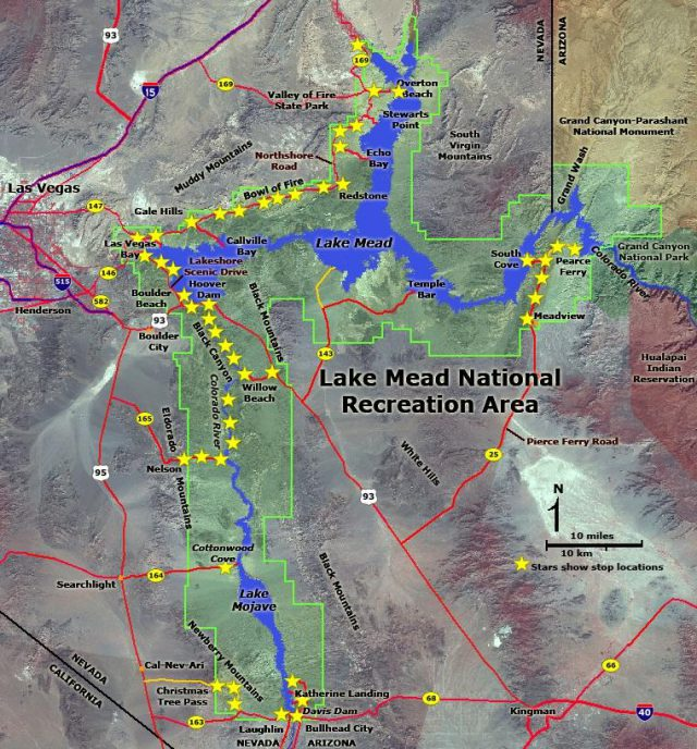 Lake Mead Map